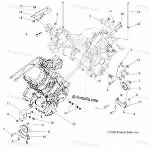 Polaris Side By Side 2013 Oem Parts Diagram For Engine  Transmission Mounting