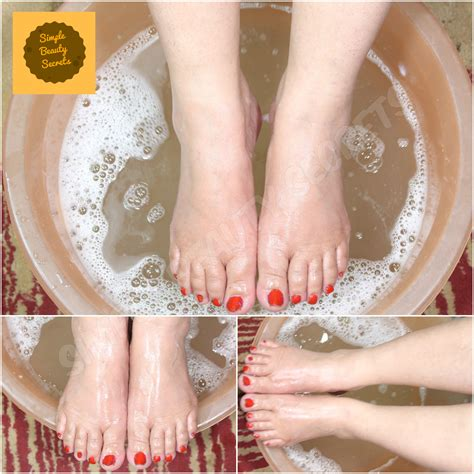 pedicure  home tips food   minutes