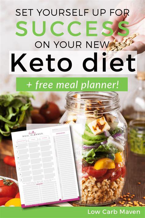 set    success    keto diet  printable  carb maven