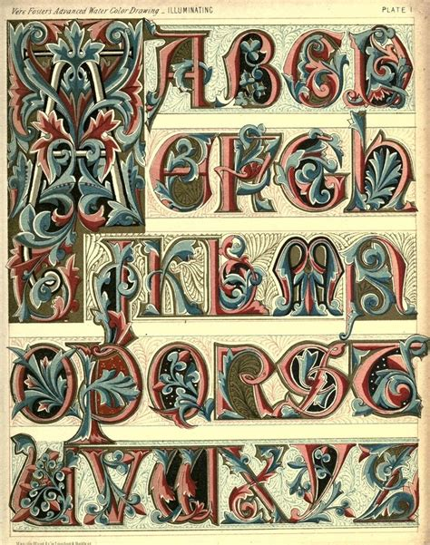 Illuminated Alphabet Templates by Extinct Font Alphabets Letter Styles Fonts