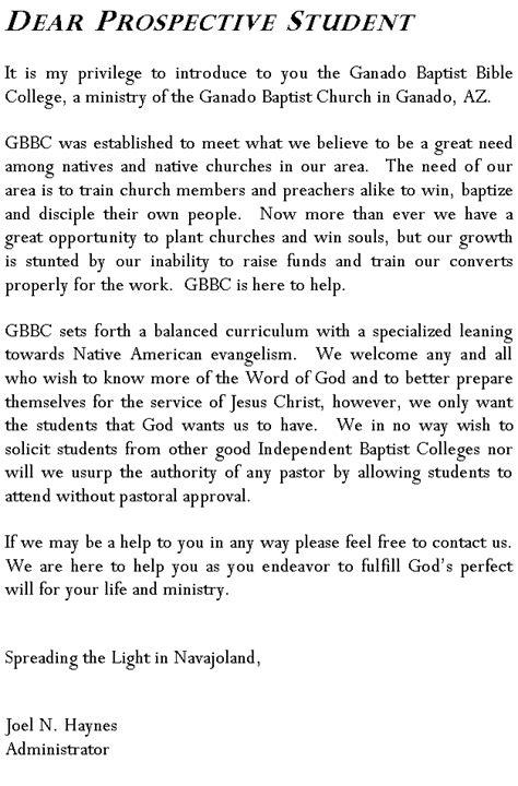 Navajoland Baptist Missions - For Prospective Students
