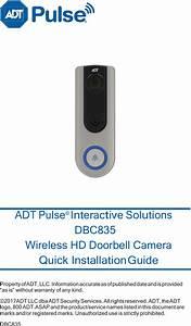 Sercomm Dbc835 Wireless Hd Doorbell Camera User Manual Adt