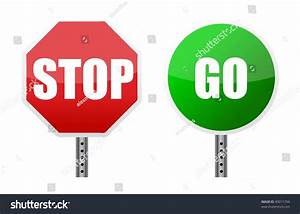 Stop And Go : stop go sign illustrations over white stock illustration 90011794 shutterstock ~ Medecine-chirurgie-esthetiques.com Avis de Voitures
