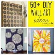 Cheap Wall Canvas Prints Idea Over 50 Easy Wall Art DIY Ideas You Can Make