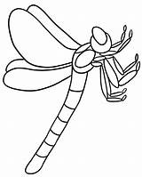 Coloring Pages Dragonfly Outline Bug Printable Clipart Flying Dragon Print Insects Drawing Cute Line Colouring Insect Cliparts Fly Bugs Clip sketch template