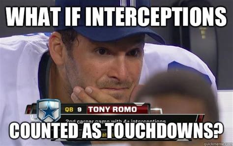 Romo Interception Meme - nfc east preview is this finally the year in big d hiphopsportsreport com