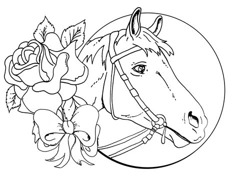 beautiful horse coloring pages coloring pages  girls