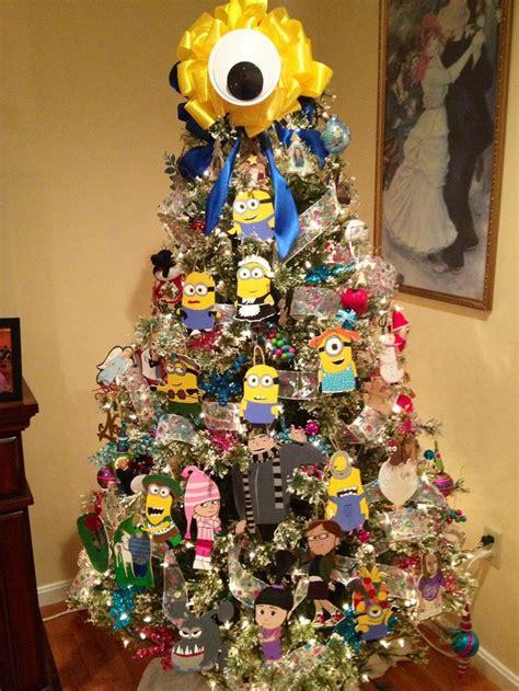 minion christmas tree complete  gru  daughters