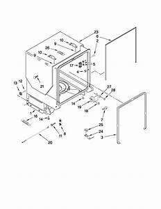 Kitchenaid Undercounter Dishwasher Door And Panel Parts