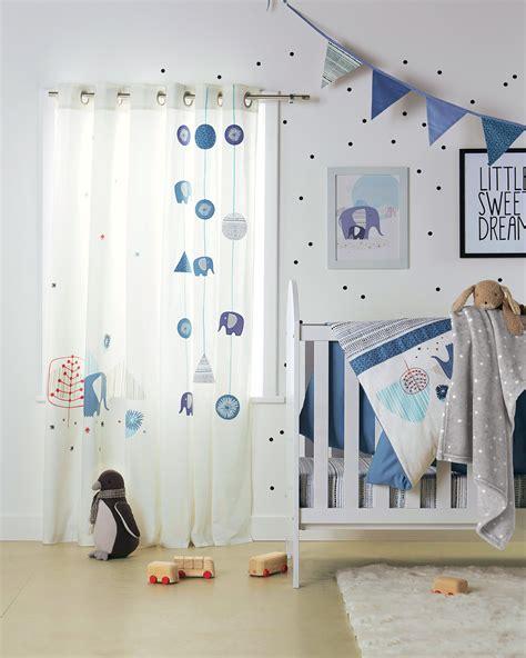 rideau chambre bebe jungle rideaux quot blue safari quot chambre b 233 b 233 babyspace www vertbaudet fr collection automne hiver