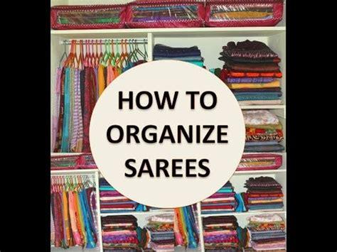 organize saree cabinet indian traditional saree