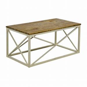 67 off wayfair wayfair wooden and metal coffee table for Wayfair wood coffee table