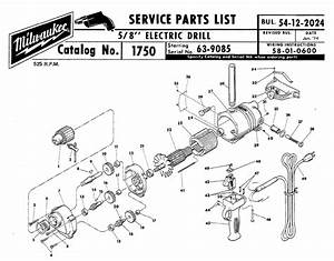 Buy Milwaukee 1750 8 U0026quot  Replacement Tool Parts