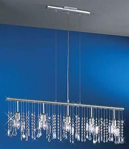 Linear light bar pendant crystal chandelier