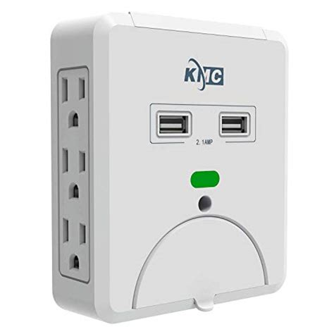 surge protector usb outlet wall mount plug multi adapter shelf holder tap socket charging power multiple ports charger screw trevse