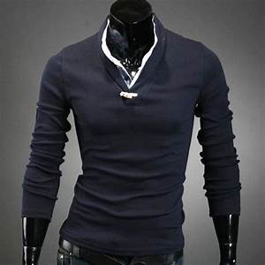 polo homme manches longues classy style elegant col With chemise a carreaux homme swag