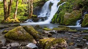 Beautiful, Waterfall, Fana, Kulturpark, Norway, Rocks, Trees