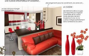 decoration salon et cuisine ouverte With decoration cuisine americaine salon