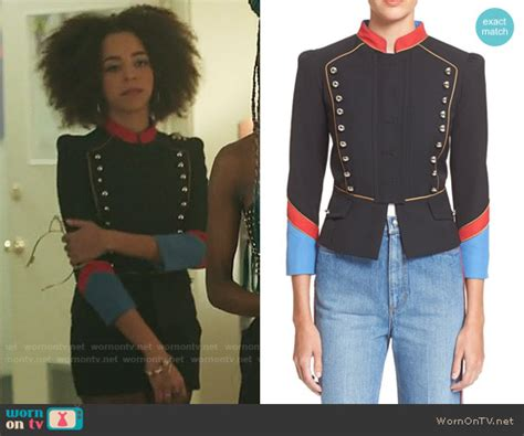 WornOnTV Valerieu2019s black military style jacket on Riverdale | Hayley Law | Clothes and Wardrobe ...