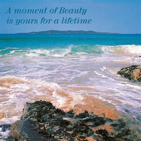 moment beauty greeting card island blue