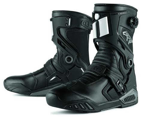 mens black motorcycle riding boots 109 33 icon mens raiden dkr armored rear entry zip 204627