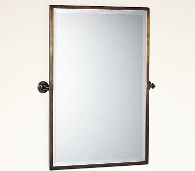 kensington pivot mirror extra large rectangle antique