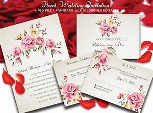 floral pink debut invitation card background dondrupcom With floral wedding invitations graphicriver