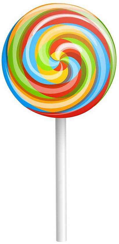 Clipart Candy Lollipop Cliparts Clip Rainbow Lollipops