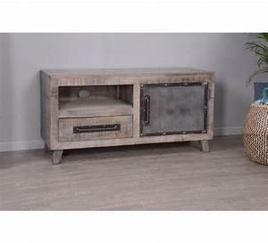 Petit Meuble Tele : petit meuble tv en m tal et bois industriel g teborg 7297 ~ Teatrodelosmanantiales.com Idées de Décoration