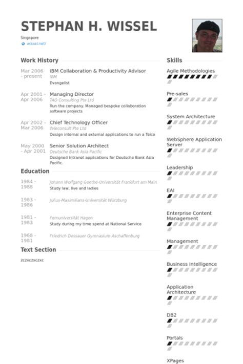 advisor resume sles visualcv resume sles database