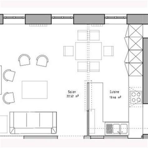 plan cuisine ouverte sur salon cuisine ouverte sur salon 30m2 fabuleux cuisine ouverte