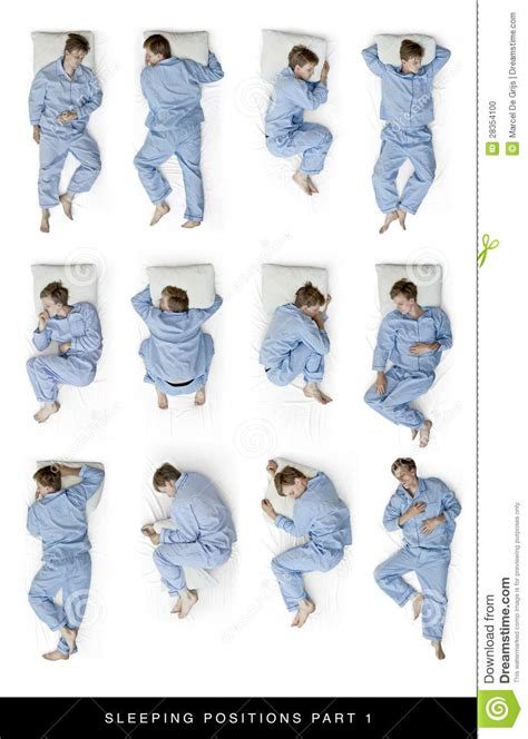 sleeping positions stock photo image  dream shot