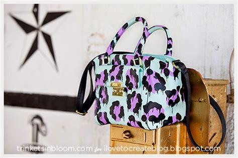 diy leopard painted bag ilovetocreate
