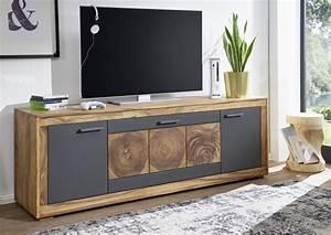 Tv Board Sheesham : tv board sheesham 178x46 cm aus massivholz massivholzm bel ~ Indierocktalk.com Haus und Dekorationen