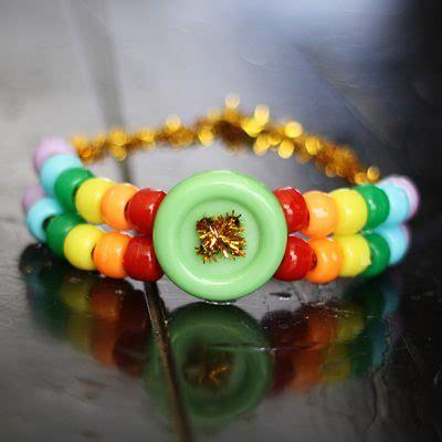 minute rainbow pony bead bracelet fun family crafts