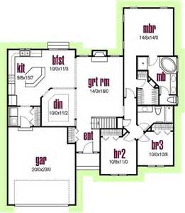 contemporary style house plans 1700 square foot home 1 - Modern Ranch Floor Plans