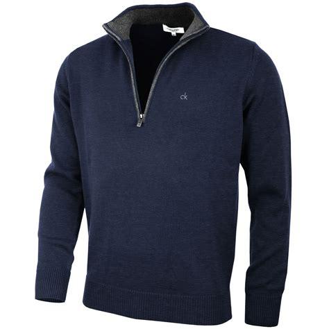mens half zip sweater calvin klein golf mens chunky cotton sweater c9187 ck half