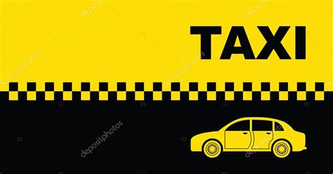 taxi background business card stock vector