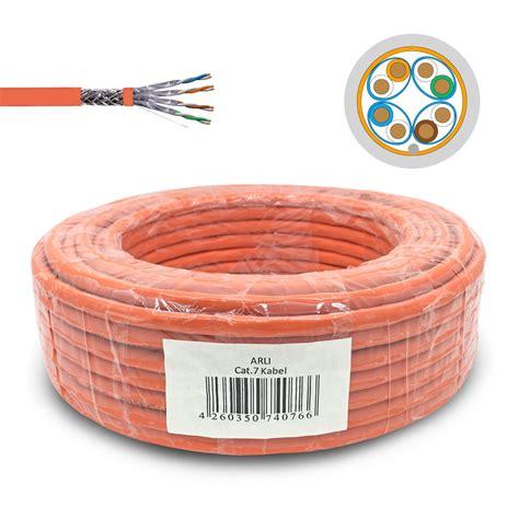 cat 7 kabel 100m cat7 netzwerkkabel 100m verlegekabel werkzeug set rj45 10 stecker cat kabel arli ebay