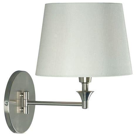 kenroy home martin 1 light brushed steel wall swing arm