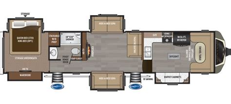 front kitchen rv floor plans 2017 keystone montana 3820fk 5 slide front kitchen new 6758