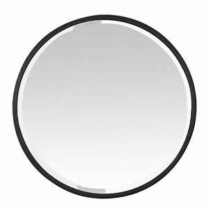 Miroir Rond Métal Noir : miroir rond noir m tal biseaut 60 cm grand format ~ Teatrodelosmanantiales.com Idées de Décoration