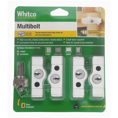 whitco white cyl multi bolt  pack bunnings warehouse