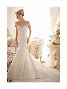 mori lee 2617 crystal wedding dress ivory tulle fishtail style With fishtail wedding dresses