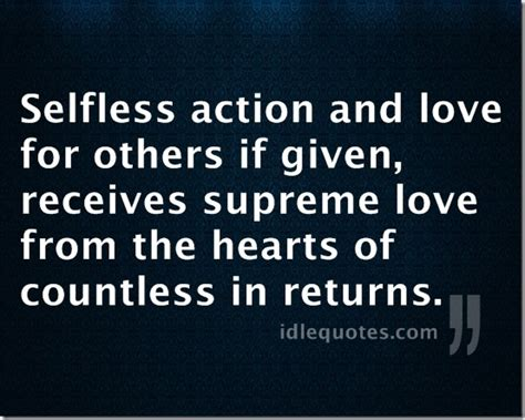 Inspirational Quotes Selfless Love