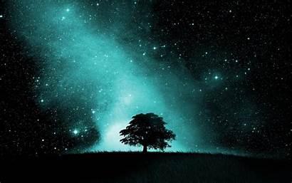 Sky Night Stars Starry Desktop Wallpapers Theme