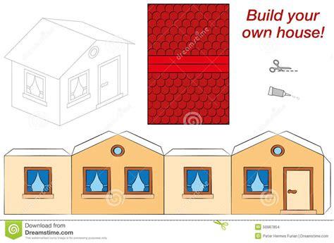 build your house free plantilla de la casa ilustración vector imagen