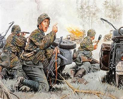 Waffen Ss Painting Army Soldiers Soldier Military