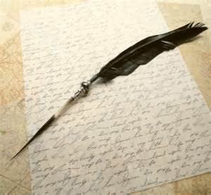 Raven Feather Quill Pen
