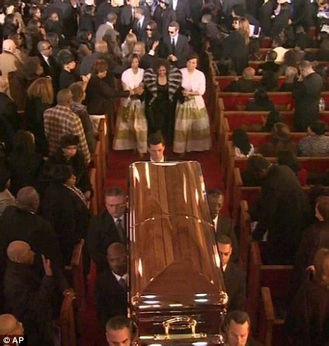 Whitney Houston Open Casket Funeral